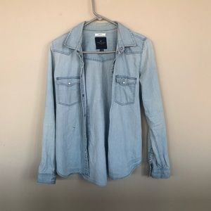 American Eagle denim button up size small